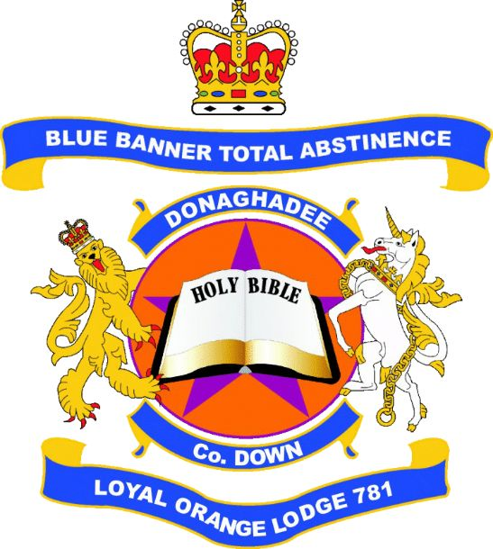 Blue Banner Total Abstinence Loyal Orange Lodge 781